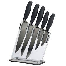 eye witness brooklyn black u0026 titanium 5 piece knife block set