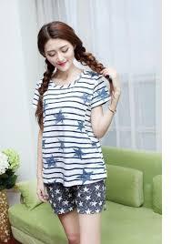 summer cotton maternity sleepwear cheap pregnancy pajamas