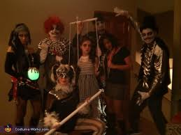 Circus Halloween Costumes Dark Circus Group Halloween Costume Photo 2 2