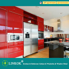 High Gloss Kitchen Cabinets Linkok Furniture Modular Kitchen Factory Prices New Lacquer High