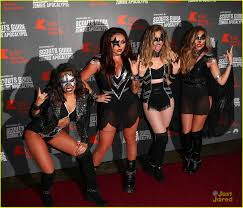 Halloween Party Haunted House Little Mix Dress Up As Kiss For Kiss Fm U0027s Haunted House Party