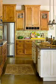 kitchen floor ideas with cabinets kitchens with warm wood cabinets traditional home