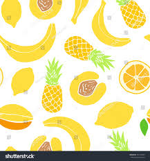 vector pattern colored hand drawn fruit stock vector 591419693
