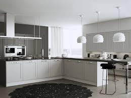 cuisine blanc et emejing cuisine gris et blanche pictures design trends 2017