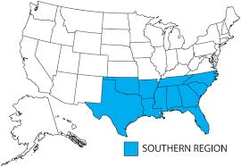 Florida Regions Map by Southern Region Apwu