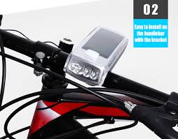 Light Bicycle Bike Usb Rechargeable Solar 4 Leds Front Light With Horn 11 99