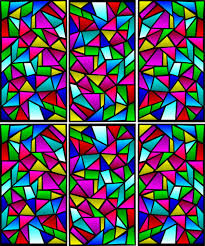 home windows glass design cool minimalist rectangular shaped abstract stained glass window