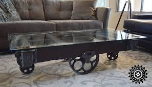 Coffee Tables With Wheels Factory Cart Coffee Table Glass Top