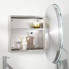 round mirror bathroom cabinet rocket potential lucent stainless