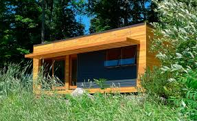 Prefab Studio Prefab Micro House Contemporary Wooden Single Story Solo