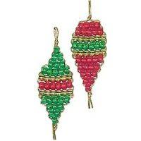 beaded safety pin ornaments
