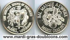 mardi gras deblume mardigrasdoubloons krewe of perseus web page