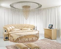 round leather bed interior design