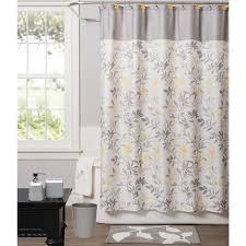 Yellow Patterned Curtains Curtains Outstanding Yellow And Gray Shower Curtain Photo Ideas