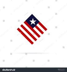 Design Of American Flag Minimalistic American Flag Logo Design Heart Stock Vektorgrafik