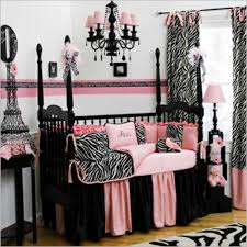 baby nursery endearing pink black and white baby nursery room