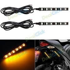 Amber Led Strip Lights by 2x 45cm Audi Tube Style White Amber Switchback Headlight Led Strip