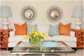 Orange Living Room Decor Livingroom Orange Living Room Wall Decor And Blue Accessories