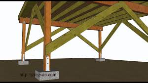 Build A Pergola On A Deck by A Few Ways To Brace Off Free Standing Wood Framed Deck Youtube