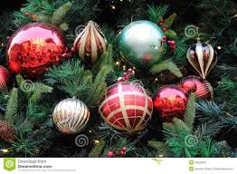 ornaments on tree stock image image 35222641