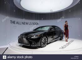 lexus fully electric car new lexus ls 500h hybrid electric saloon car at 87th geneva stock