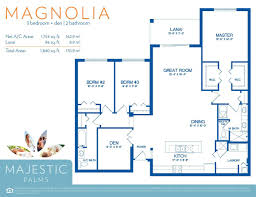 1 Bedroom Condo Floor Plans by Floor Plans Magnolia Majestic Palms Condominiums