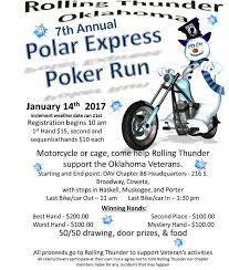 january 14 2017 rolling thunder oklahoma polar express poker
