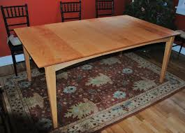 solid maple dining table solid maple prairie table with cherry top and leaf boulder