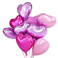 valentines baloons 18 inch hearts shaped foil balloons valentines day