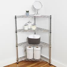 Corner Shelving Bathroom Chrome Corner Shelving Unit Storables