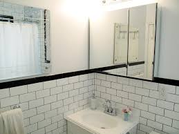 fresh white subway tile bathroom accent 5139