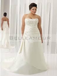 robe de mari e satin de mariée grande taille dentelle bustier satin longue blanc