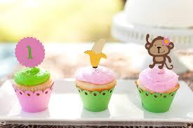 Mod Baby Shower by Monkey Jungle Cupcake Toppers Mod Monkey Theme Birthday