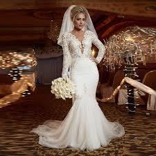 aliexpress com buy new designer long sleeve lace mermaid wedding