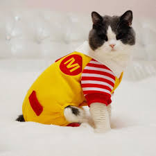 Funny Animal Halloween Costumes 2017 Dog Halloween Costume Funny Cute Cat Cosplay Clothes Mcdonald