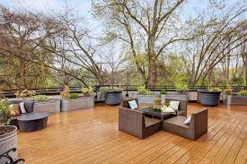 large planter box deck contemporary with courtyard tropical