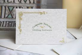 Post Card Invitations Celtic Rose Wedding Invitations Tent Style With Postcard Reply