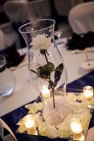 White Roses Centerpiece by Single White Long Stem Rose From Hobby Lobby 16in Hurricane Vase