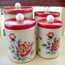 vintage metal kitchen canister sets 186 best vintage canisters images on vintage canisters