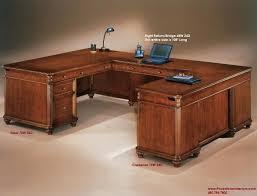 Executive Office Desk Cherry Cherry Wood Executive U Shaped Desk Parquet Inlaid Desktop Office