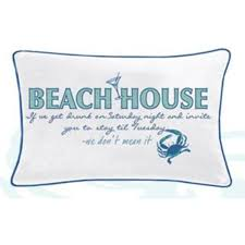 i sea life beach house pillow island beach gear