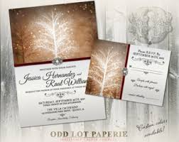 Christmas Wedding Invitations Winter Wedding Invitation