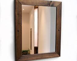 Wood Mirrors Bathroom Bathroom Mirror Etsy