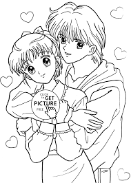 miki and yuu from marmalade boy coloring pages for kids printable