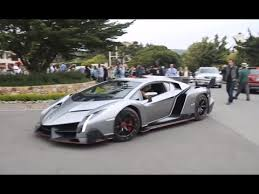 lamborghini veneno driving lamborghini veneno driving on the road
