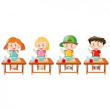 Kids Eating Table Kids Eating Designs Vector Free Download