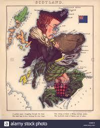 Map Scotland Anthropomorphic Map Of Scotland Stock Photo Royalty Free Image