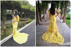chinese students spend 6 months creating stunning dress out of