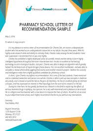 ideas of how to write recommendation letter for pharmacy