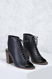 motorcycle ankle boots faux leather cutout ankle boots forever 21 2000251541